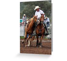 Upper Horton Rodeo - Steve Bradshaw - Pick up Man 2010 Greeting Card