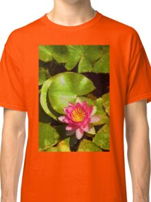 Pretty in Pink - a Waterlily Impression - Vertical Classic T-Shirt