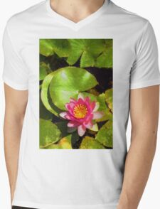 Pretty in Pink - a Waterlily Impression - Vertical T-Shirt
