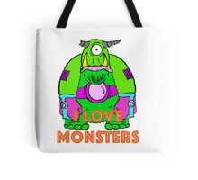 I Love Monsters Tote Bag