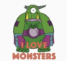 I Love Monsters Kids Clothes