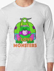 I Love Monsters Long Sleeve T-Shirt