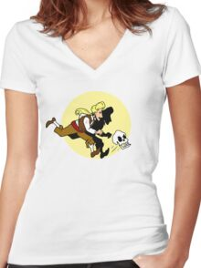 The Adventures of Guybrush Women's Fitted V-Neck T-Shirt