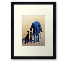 Steak dinner for 3 tonight! Framed Print