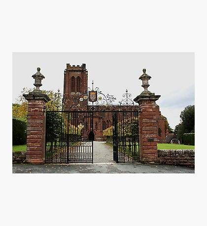St. Mary's Church, Village of Eccleston, Nr. Chester UK Photographic Print