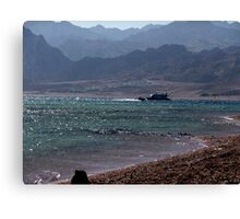 Blues on the Red sea Canvas Print