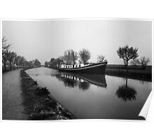 Barge Le Canal de Bourgogne Poster