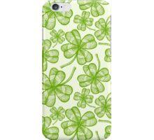 Seamless clovers pattern iPhone Case/Skin