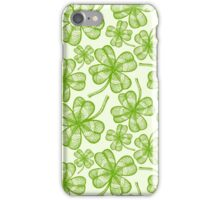 Seamless clovers pattern iPhone Case/Skin