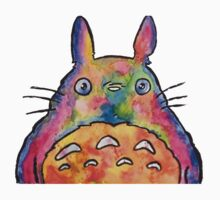 Cute Colorful Totoro! Tshirts + more! Jonny2may Kids Clothes