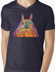 Cute Colorful Totoro! Tshirts + more! Jonny2may Mens V-Neck T-Shirt