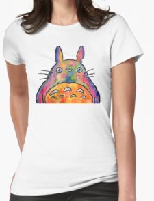 Cute Colorful Totoro! Tshirts + more! Jonny2may Womens Fitted T-Shirt