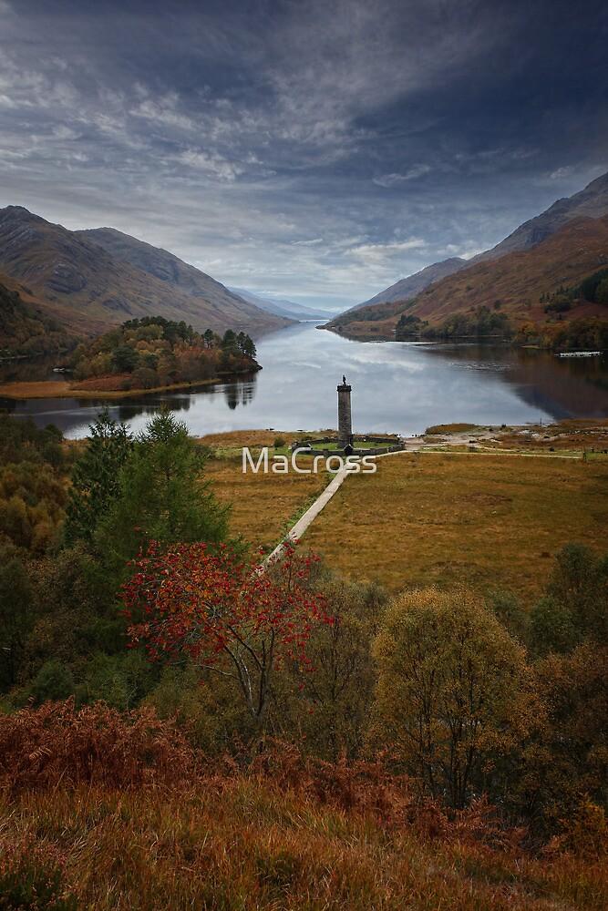 Glenfinnan Monument, Loch Shiel, Scotland by Martina Cross