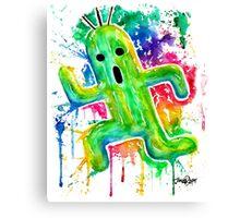 Cute Cactuar - Running Watercolor - Final fantasy - Jonny2may - Awesome!  Canvas Print