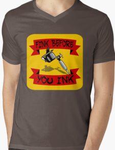 Tattoo Regret Mens V-Neck T-Shirt