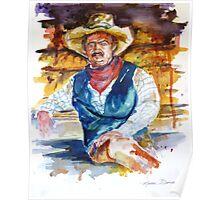 Sun Dried Cowboy Poster