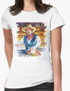 Sun Dried Cowboy Womens Fitted T-Shirt