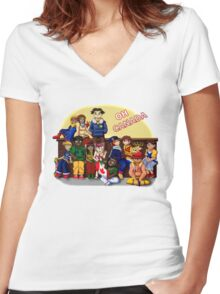 Oh Canada Women's Fitted V-Neck T-Shirt