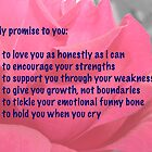 My Promise to You - Pink Rose by Doug Greenwald