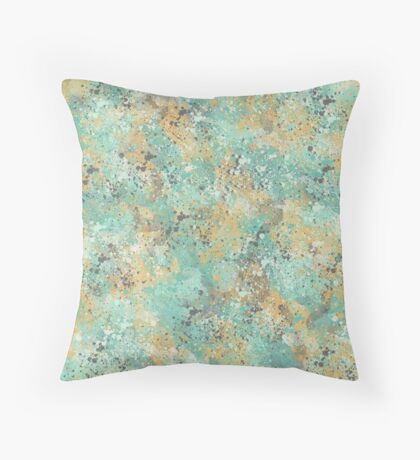 Mint and Mustard Throw Pillow