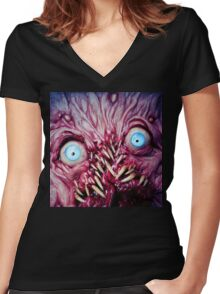 fangtooth 2 Women's Fitted V-Neck T-Shirt