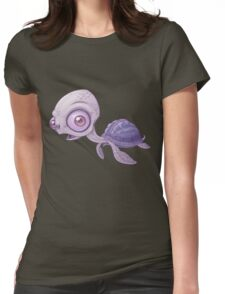 Sea Turtle - No Background Womens Fitted T-Shirt