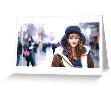 La fille du froid en couleur Greeting Card