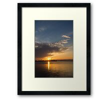 Good Morning, Toronto with a Glorious Sunrise Framed Print
