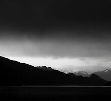 Storm rolling over Harrison Lake by Jean Poulton