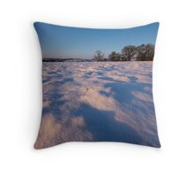 Snow-covered Fields Throw Pillow