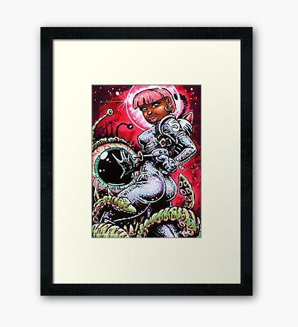 SPACE BABE 1 Framed Print