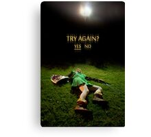 Link - Try Again? Canvas Print