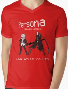 Persona Yellow Version Mens V-Neck T-Shirt
