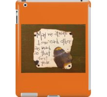 That First Year  iPad Case/Skin