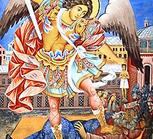 Saint Michael Classic Orthodox Icon by Iva Penner