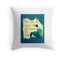 Heart beat/slow song Throw Pillow