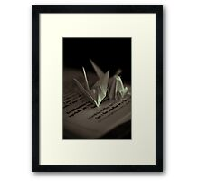 Paper Cranes Framed Print