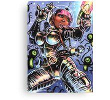 SPACE BABE VS SHADOW ALIENS Canvas Print