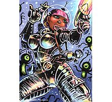 SPACE BABE VS SHADOW ALIENS Photographic Print
