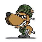 Cartoon Soldier Dog Character by CoghillCartoon