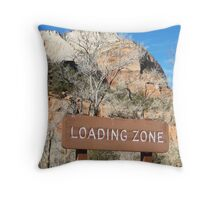 Loading Zone in Zion Throw Pillow