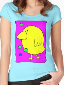 Big Bird Walking Women's Fitted Scoop T-Shirt
