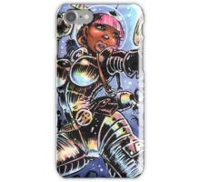 SPACE BABE VS SHADOW ALIENS iPhone Case/Skin