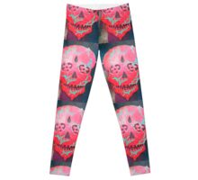 Paint Peel Skull  Leggings