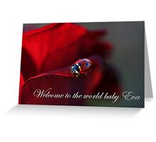 Welcome to the world baby Eva Greeting Card