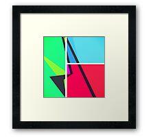 Retro Colorbox Geometric Pattern Framed Print