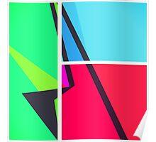 Retro Colorbox Geometric Pattern Poster