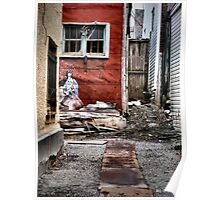 Back Alley in the Old Part of Town Poster