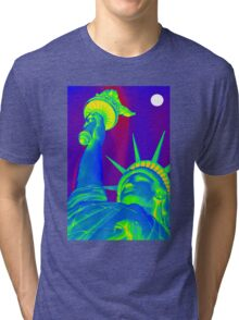 Lady Liberty in the Moonlight Tri-blend T-Shirt