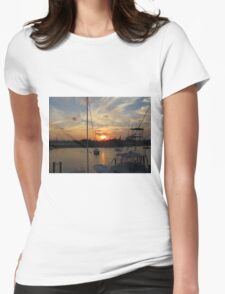 Sunset in Georgetown, SC Womens Fitted T-Shirt